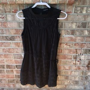 Doe & Rae black eyelet dress size L